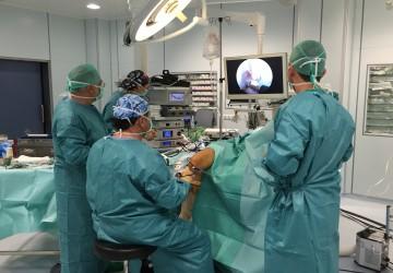 Posicionamiento para artroscopia de rodilla