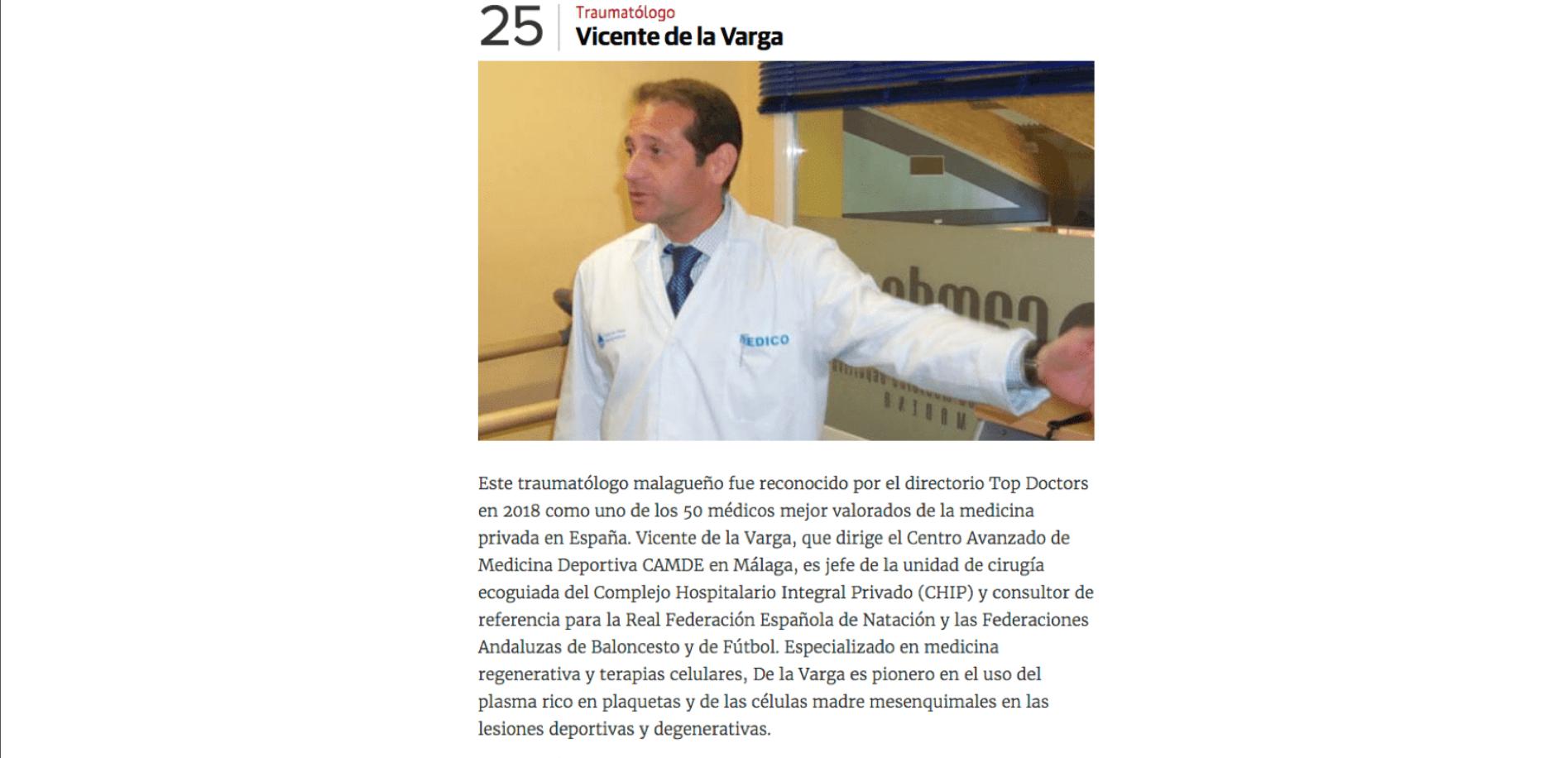 """Diario SUR: """"Los 26 médicos de prestigio que ejercen en Málaga"""""""